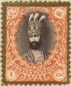 تمبر قدیمی ایران با صورت نادر شاه افشار- تاریخ نامعلوم