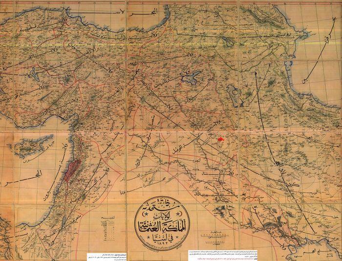 نقشه منطقه کردستان در امپراتوری عثمانی مربوط به سال ۱۸۹۳ میلادی
