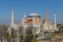 کلیسای آیا صوفیا در استانبول که حالا موزه ده است