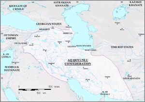 سرزمین های تحت حاکمیت (۱۴۷۸) آققویونلوها