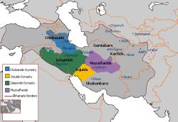 حکومت های محلی (1337-1432) بین ایلخانان و تیموریان