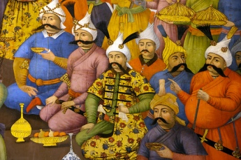 شاه طهماسب ازهمایون شاه هندوستان پذیرائی میکند - قصر چهل ستون