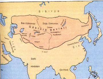 حیطه جغرافیائی امپراتوری گوک تورک