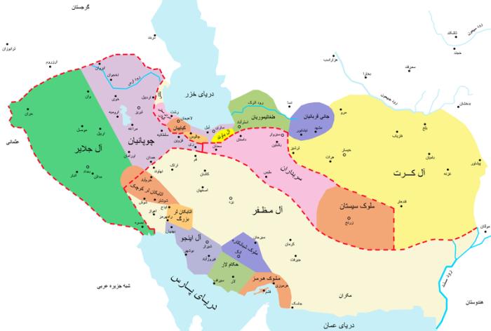 ایران در اوج نظام ملوک الطوایفی حدود 750 هجری قمری