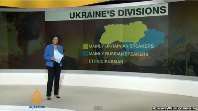 نقشه تلویزیون «الجزیره» از «انشعاب های» درون اوکرائین