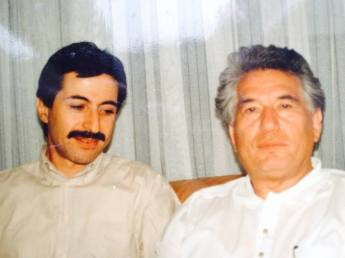 With Aitmatov Munich 1992