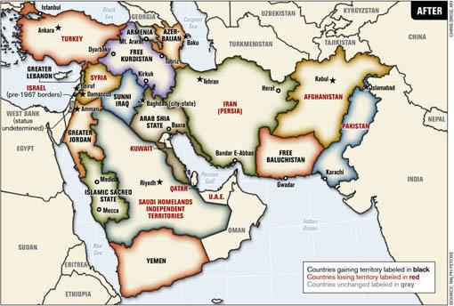 نقشه فرضی منطقه، نشریه پیوند