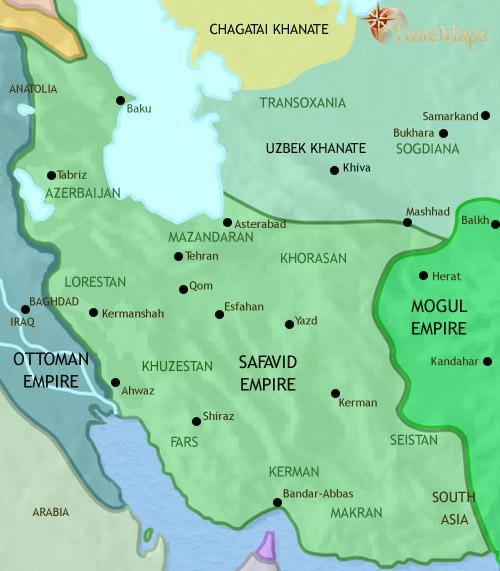 ایران ۱۴۵۳ تا ۱۶۴۸ میلادی