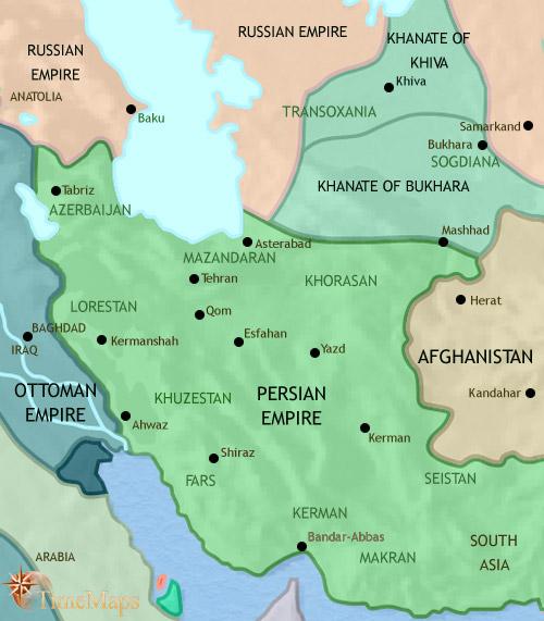 ایران تا ۱۸۷۱ میلادی