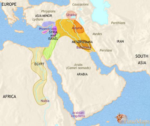 خاور میانه سال 1000 قبل از میلاد