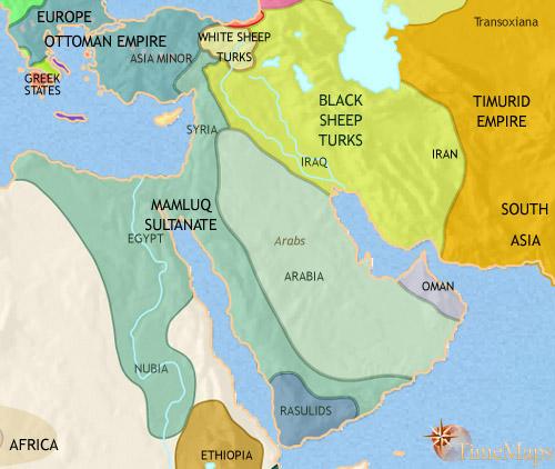 1215 تا 1453 سال بعد از میلاد