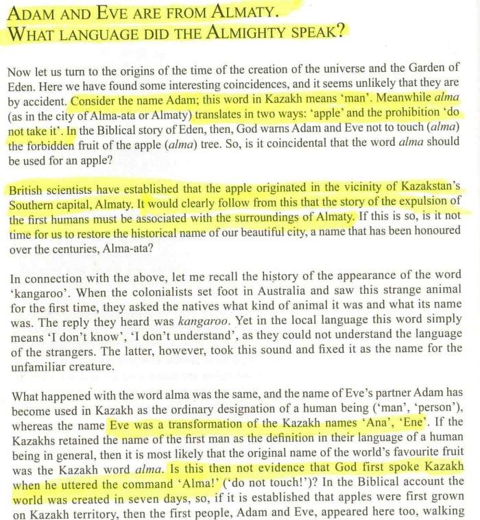 راپسودی ترکی، ص 72، در باره آدم و حوا