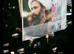 در یک تظاهرات که در سال 2012 بدنبال قتل سه روحانی شیعه در عربستان سعودی صورت گرفت، یکی از معترضین عکس روحانی شیعه دیگر، شیخ نیمر النمر را نشان میداد
