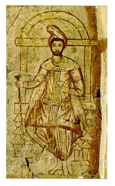 تصویر سنگی زردشت از سده سوم م، سوریه