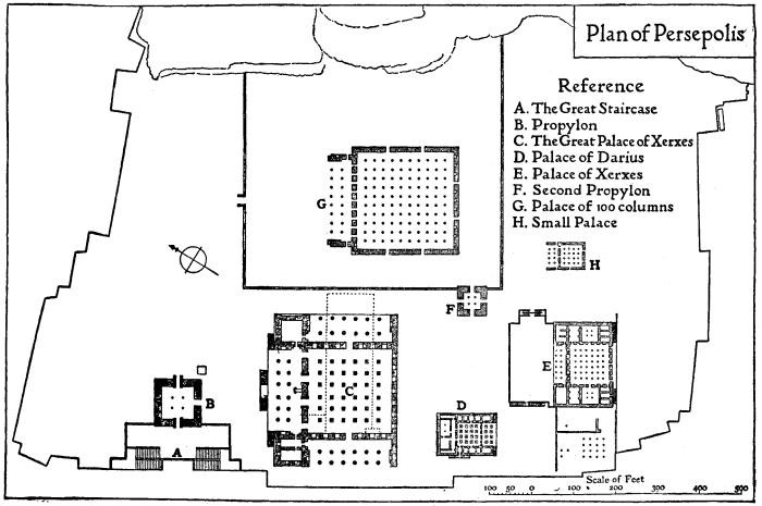 نقشه ناتمام کاخ تخت جمشید (منبع در لینک)