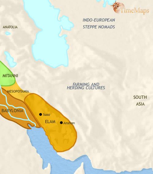 ایران ۲۵۰۰ تا ۱۵۰۰ قبل از میلاد
