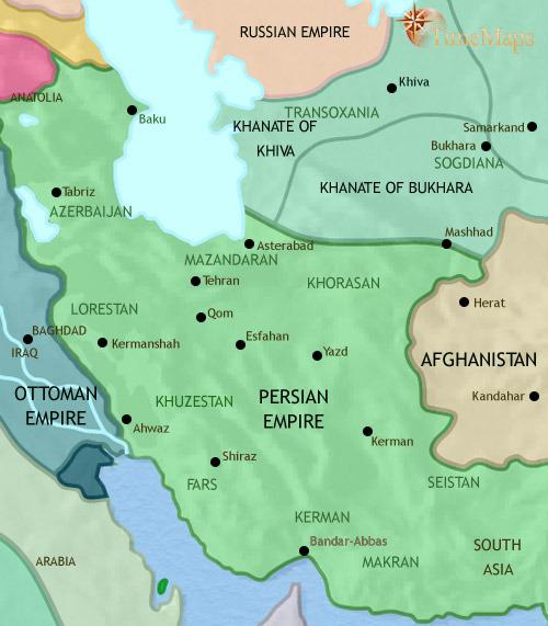 یران تا ۱۷۸۹ میلادی