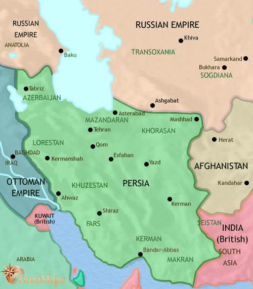 ایران تا ۱۹۱۴ میلادی