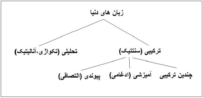 طیقه بندی زبان های دنیا بر پایه ترکیب پذیری واژگان